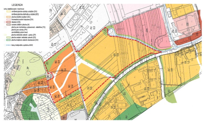 Stávající územní plán z roku 1994