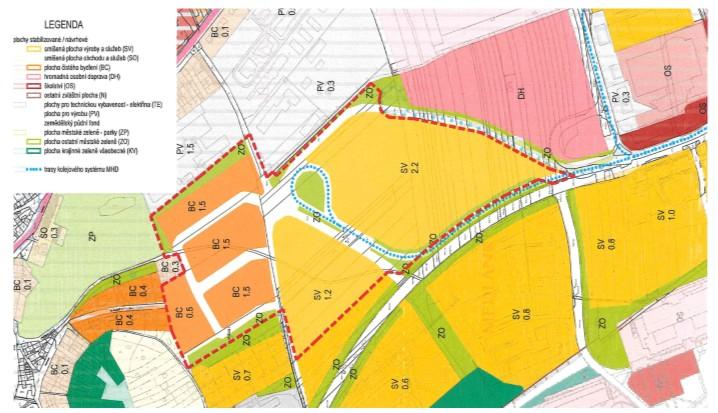 Návrh na pořízení změny územního plánu v lokalitě Technologického parku
