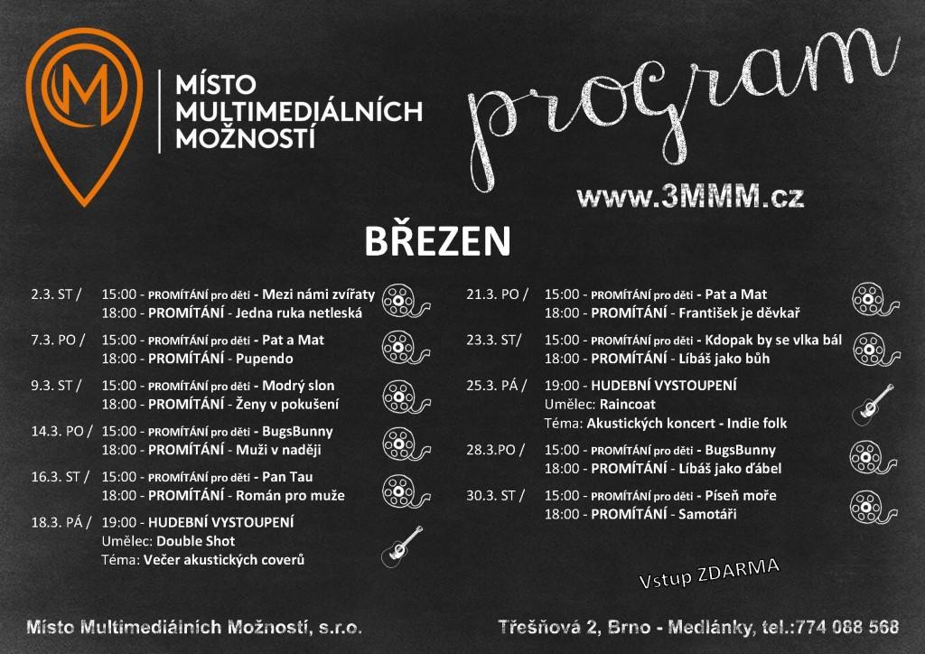 Program kulturnich akci - Kavarna MISTO - Březen 2016